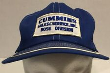 Vtg Cummins Snapback Trucker Hat Cap Swingster USA Blue Patch Hose Division