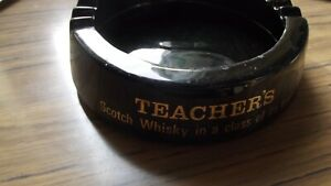 Teachers Scotch Whisky Glass Ashtray Wade c 1970's No Chips /Marks