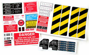 PROTON PACK , GHOST TRAP , Ecto Goggles and Motorola MT500 radio Sticker set