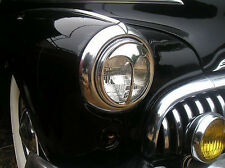 NEW PAIR OF VINTAGE STYLE CAT EYE HEAD LIGHT COVERS !