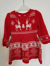 Yong Dimensions Christmas Dress 18-24 Months  New Style Xmas Reindeer