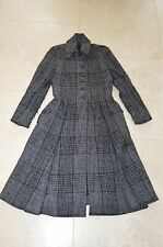 Burberry Wool Long Full Length Button Up Over Coat Grey Womens UK Size 8 / US 6