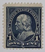Travelstamps: 1895 US Stamps Scott #264, Franklin, 1¢ blue mint NG