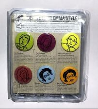 DEFINE YOUR EMMA STYLE PINS (6 PINS) STILL IN PACKAGE WITH MINI DESCRIPTIONS