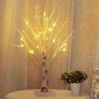 LED Christmas Birch Tree Light Up White Twig Tree Easter Home Hot G1L9