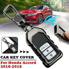 Car Key Cover Case Holder Protector Accessories Black For Honda Accord 2018 2019