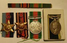 1939 1945 WW2 war medals, star, Burma star, defence medal, efficient service