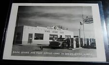 RARE GAGE NEW MEXICO NM RPPC MOBIL GAS STATION STORE CAFE POST OFFICE REAL PHOTO
