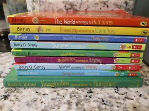 THE WORLD ACCORDING TO HUMPHREY Series Betty G. Birney 9 Book Lot