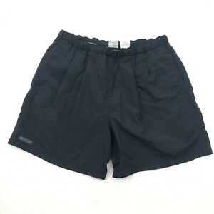 Columbia Hiking Shorts Mens Large Black Netted Belted