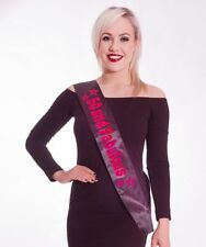 Miss Behave 50th Happy Birthday Black Sash 50 and Fabulous Hot Pink Holographic