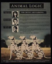 1990 Animal Logic Concert Tour - Stewart Copeland - Dalmatian Dogs - Vintage Ad