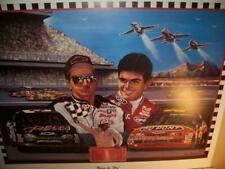 Dale Earnhardt Jeff Gordon Lithograph by Robert Simon