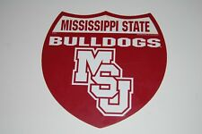Vintage Mississippi State Bulldogs Unusual Shaped Football Sign by Rico