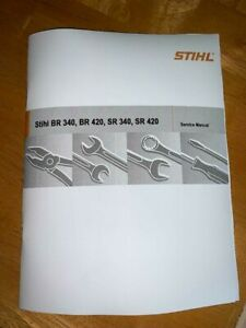 BR SR 340, 420 Back Pack Blower Service Workshop Repair Manual