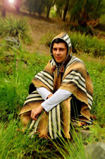 Poncho, Traditional, Peruvian, wool