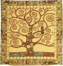 """NEW GUSTAV KLIMT TREE OF LIFE V1 BELGIAN TAPESTRY CUSHION COVER + ZIP, 18"""" X 18"""""""