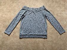 Off the Shoulder Grey Sweater Top UK 12