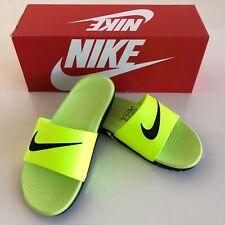edcdad75e81a Nike Kawa Slide 7y 7 Youth Boys Sandals Slides Volt Black