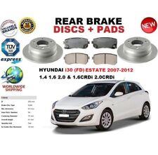 Per Hyundai I30 Fd Estate 2007-2012 Dischi Freni Posteriori Set +Pastiglie Kit