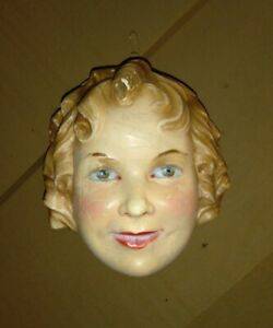 Scarce 1930s Shirley Temple String Holder Hand Painted Plaster Advertising Piece