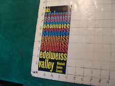 Vintage High Grade SKI brochure: SKI EDELWEISS VALLEY quebec 1975