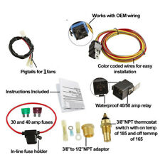 cooling fans \u0026 kits for saab 9 2x ebay185 degree on 165 off electric cooling fan wiring thermostat 40 amp relay kit