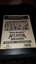 Atlanta Dixie Dreamin' Rare Original Radio Promo Poster Ad Framed!
