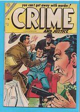 Crime & Justice #20 Charlton Comics 1954 VG+
