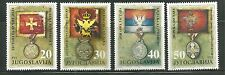 YUGOSLAVIA 2119-22 MNH FLAGS & MEDALS IN MUSEUM EXHIBITS