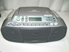 Sony CFD-S01 CD-R/RW Mega Bass AM/FM Cassette Recorder BoomBox Fully Working !