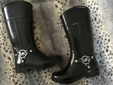 MICHAEL KORS GIRLS WELLINGTONS SIZE 13.5 NEW RIDING BOOT STYLE