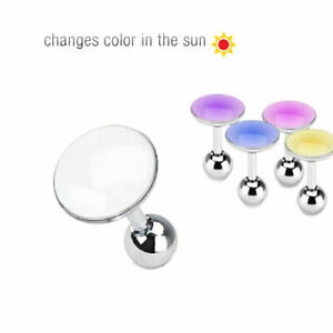 Tragus Helix Cartilage Barbell Ear Piercing Stainless Steel 316L Changes Color