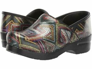 Dansko Women's Professional Color Maze Patent Clog Slip on  EU 39 US 8.5 - 9