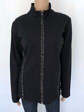 NWT JONES NEW YORK SPORT Plus 1X Black Zip Sweatshirt Training Top Sweater Women