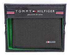 New Tommy Hilfiger Lloyd Men's Black Leather Bifold Passcase Credit Card Wallet