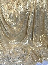 """Sparkly Sequin Fabric bridal wedding costume strech backdrop Tulle net 58"""" wide"""