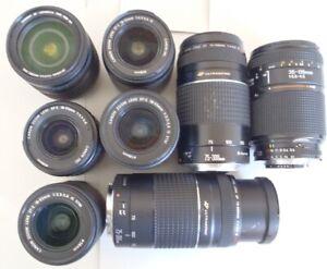 "Lens Bundle, 6 PCS Canon, 1 PCS Nikon 1 PCS Tamron, ""NO ACCEPT RETURN"""