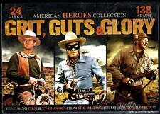 AMERICAN HEROES COLLECTION - GRIT, GUTS & GLORY (DVD, 2014, 24 Discs) - NEW