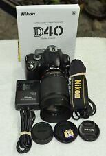 Nikon D D40 6.2MP Digital SLR Camera - with Nikon AF-S-VR 55-200 MM Lens)