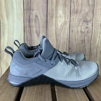Nike Metcon Flyknit 3 Cool Grey Black AQ8022-002 Men's Training Shoes Size 8 *