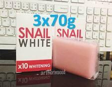3x70g Snail Soap With Retinol & Arbutin Reduce Acne Dark Spots Whitening Skin.