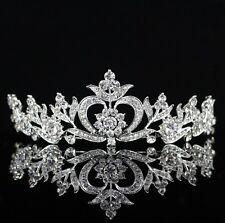Floral Clear Austrian Crystal Rhinestone Tiara Crown Bridal Prom Wedding T24