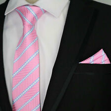 NEW SEASON BRIGHT TIE AND MATCHING POCKET SQUARE HANKY QUALITY WEDDING EVENT SET