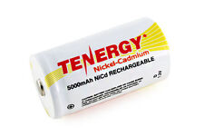 Tenergy D Size 5000mAh High Capacity NiCd Rechargeable Battery Cell Button Top