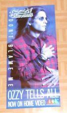 Ozzy Osbourne Don't Blame Me Tells All Promo Poster Black Sabbath 17x36