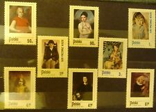 POLAND STAMPS MNH 2Fi2191-98 SC2058-65 Mi2338-45 - Child in Painting-1974,clean