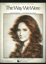 Barbra Streisand The Way we Were photo Sheet Music 1973