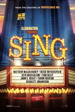 Sing - original DS movie poster - 27x40 D/S Advance