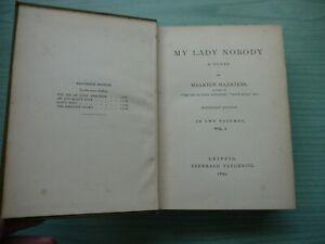 MY LADY NOBODY by MAARTEN MAARTENS H/BACK 1895 TAUCHNITZ EDITION VOL.I
